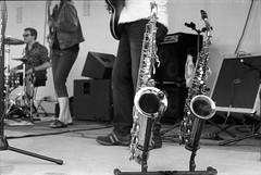 Canada Day band 02 (Eric Hartke) Tags: blackandwhite music film diy band ilfordhp5 canadaday nikkormat filmisnotdead 50f2 loveoffilm