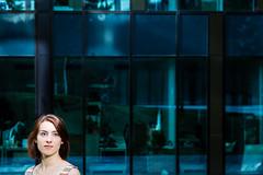 Ms. Robot (dawolf-) Tags: woman blue portrait headshot robot framing outdoor industrial head austria wien vienna mirror reflection girl actress mrrobot corner naturallight