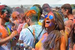 Holi Barcelona 2016 (cpcmollet) Tags: barcelona street portrait people urban india colour girl smile face festival fun happy calle interesting nikon europa europe fiesta faces gente catalonia together sonrisa festa hindu holi hindi sonriure