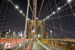 Brooklyn Bridge After Dark (Ed.Stockard) Tags: nyc newyorkcity brooklynbridge manhattan bridge night lights freedomtower eastriver longexposure cable history america city
