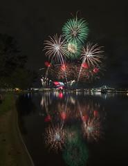NDP 2016 NE Rehearsal - Fireworks at Singapore Sports Hub from Nicoll (gintks) Tags: seascape reflection landscapes singapore fireworks singapur kallangriver singaporetourismboard sportshub sg51 gintks gintaygintks sg2016 nationaldayparade2016