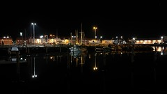 "Harbour of danish city ""Strandby"" by night (Rind Photo) Tags: harbour reflexes"