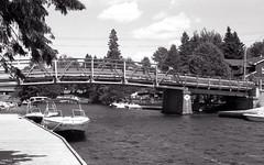 Bridge over the Dorset Narrows (Bill Smith1) Tags: billsmithsphotography canonf1n dorseton fdn50f14lens hc110b ilforddelta100 july2016 lakeofbays muskoka filmshooterscollective