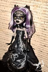 Claudia (saijanide) Tags: monster werewolf dark high wolf doll artist dolls mask ooak gothic goth victorian venetian custom mh repaint clawdeen saijanide