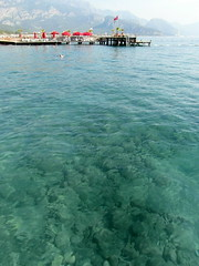vacations in turkey (3) (kexi) Tags: water sea turquoise meduterranean vacations turkey vertical samsung wb690 may 2015 red flag coast shore instantfave