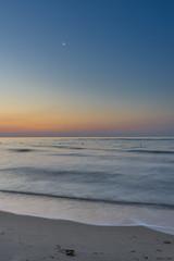sunrise and moon (giolor89) Tags: sky italy orange sun sunrise see sand italia mare alba basilicata cielo holydays goldenhour vacanze arancione sabbia crepuscolo metaponto