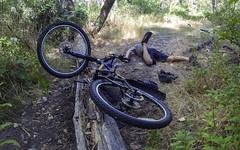 Wipeout! (The.Mickster) Tags: self wideangle portrait bikepath boise fisheye wipeout idaho randy 365 bike crash trail fdt hereios