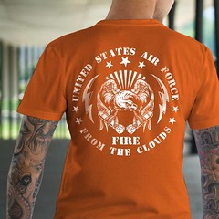 United States Air Force: Fire from the Sky. Military T-Shirt. (Sons of Liberty Tees) Tags: pc guns constitution patriot teaparty donttreadonme righttobeararms politicalcorrectness molonlabe liberallunacy ccot sonsoflibertytees