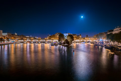La Ville Lumire (the_wonderer_wanderer) Tags: paris ville lumiere pont neuf architecture landscape cityscape nightscape nightshot seine lights city moon lune moonshine clair ile cit reflections