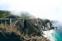 Bixby Bridge (Norman H.) Tags: big sur bigsur california highway1 outdoor green bixby bridge structure fog ocean pacific