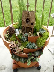 Awesome Clay Pot Mini Garden (irecyclart) Tags: fairygarden garden miniature pots