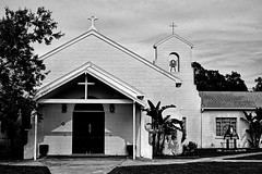 """for the Glory of God, and advancements of the Christian faith"" (John Ilko) Tags: church blackwhite christianity presbyterianchurch mayflowercompact monochromey palmettofl"
