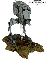 Star Wars Battlefront- AT-ST (KevFett2011) Tags: kevfett2011 starwars atst battlefront ea game multiplayer endor lego afol moc