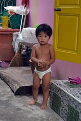 diaper boy (the foreign photographer - ) Tags: aug72016nikon diaper boy porch khlong bang bua lard phrao portraits bangkhen bangkok thailand half naked nude