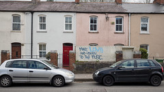 Make Love and Listen to the Music (Peter E. Lee) Tags: cork spring makeloveandlistentothemusic roi grafitti ireland street house car republicofireland rowhouse 2016 ire eire sign ie