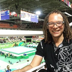 Duke's Thomas F. DeFrantz, professor at the African and African American Studies department, is catching some USA gymnastics in Rio! #dukeiseverywhere #rio2016 (Duke University) Tags: ifttt instagram duke university