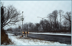 Careful Driving (Irina Kiseleva) Tags: winter composition tree road car color black white farrockaway reflection 1001nights 1001nightsmagiccity