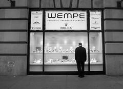 Watch watching. (Martiis) Tags: monochrome blackandwhite 5thavenue newyork blackwhite street