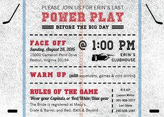Hockey Bridal Shower Invitation4 (maddieandmarry) Tags: powerplay sports bridalshower invitatoin icerink blue red faceoff team logo fan game sticks puck love