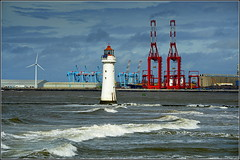 Perch Rock Lighthouse (New Brighton,Wirral) 20th August 2016 (Cassini2008) Tags: perchrocklighthouse newbrighton wirral rivermersey