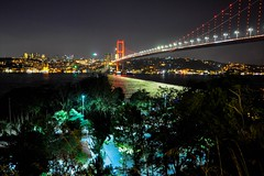 The Bosphorus, Istanbul (yonca60) Tags: beylerbeyi istanbul turkey sea thebosphorus istanbulbogazi nightshot night light reflection kopru landscape view vista mare