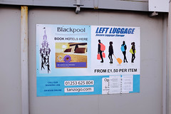 left luggage (blackpool in colour) Tags: blackpool lancashire leftluggage sign fujifilm busstation 2017 365