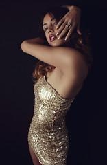 Golden (ReAle Photography) Tags: female dark girl silk position portrait fashion photography experiment latin woman fashionportrait black attitude lifestyle love sexy underwear bra