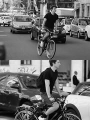 [La Mia Citt][Pedala] (Urca) Tags: milano italia 2016 bicicletta pedalare cicllista ritrattostradale portrait dittico nikondigitale mir bike bicycle biancoenero blackandwhite bn bw 881114