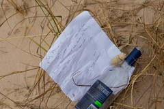 Message in a bottle (soumit) Tags: messageinabottle 2015 beach ludington michigan november thanksgiving freesoil unitedstates