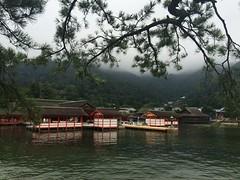 (uucoco) Tags: itsukushima shrine green sea water red japan miyajima hiroshima