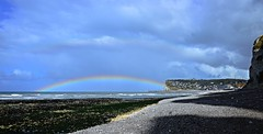 Over the rainbow (Corinne Lejeune Girot) Tags: arcenciel rainbow fcamp normandie france mer sea ville city ciel sky