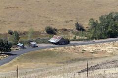 Old Barns_Interstate 84_Oregon_0882 (Mike Head - Jetwashphotos) Tags: buildings barns derelict abandoned farm desert desertarea interstate84 vietnamveteransmemorialhighway or oregon oregonstate us usa america wideopenareas views hotdry pleasant