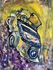 For your love (The Big Jiggety) Tags: art arte kunst painting peinture pintura canvas toile lienzo huile oleo michael kent usa america amerika oil tableau color couleur colour fahrbe car voiture coche wagen automobile carro convertible cabriolet decapotable