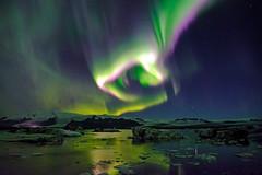 Jkulsrln (5) () Tags: polarlight easterniceland easternregion    aurora  borealisnorthern lights