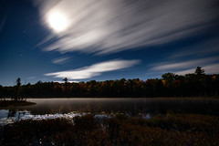 Lake Ackert near Bala (_Val W) Tags: k3ii7902 nightphotography nightimages nightout fall tree lake ackert moonlight moonrise k3ii