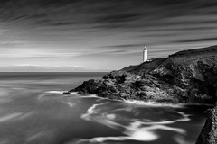Trevose Head B&W (~g@ry~ (clevedon-clarks)) Tags: 13stop 13stopnd bw blackwhite cliff coast coastal dusk harlyn headland heritagecoast horizontal landscape landscapes lighthouse longexposure mono monochrome mountain nd ndfilter outdoor padstow rock rocky rugged scenic sea seascape southwestcoastalpath stinkingcove sunset trevosehead twilight uk