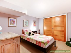 Kids girl bedroom in pinnk. (adambebenek) Tags: bedroom room apartment beautiful clean comfortable interior design bed furnished furniture empty nightstand pillow window floor doors realestate style simple image photography royaltyfree photo designer idea architecture project building american northwest inside indoors carpet open bright home house modern baby child kid girl pink