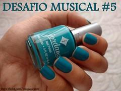 Desafio Musical 5 - Aquele 1% - Jordana, Boy Oh Boy! (Mica Cavalcante) Tags: esmalte nailpolish naillacquer jordana boyohboy turquesa azul manicure nailenamel unhas mãos nails