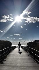 #walkingonsunshine #beach #sunshine #sunset #boardwalk #sky #ocean (kasia_c) Tags: boardwalk sunshine sky ocean sunset beach walkingonsunshine