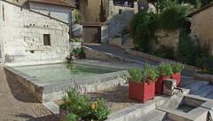 DSCF0089 Place Merks-Merval, Aubeterre-sur-Dronne (Charente) (Thomas The Baguette) Tags: aubeterresurdronne charente france monolith cave church tympanum glise glisenotredame saintjacques caminodesantiago sexyguy chateau cloister minimes mithra mithras cult