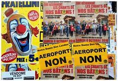 Affichage publique (lefaucheux.stephane) Tags: affiche rue couleurs cirque mots clown manifestations fratellini aroport zad rire image refus