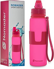 Nomader BPA Free Collapsible Sports Water Bottle - Foldable with Reusable Leak Proof Twist Cap for Gym Travel Hiking Camping and Outdoors - 22 Ounce (Pink) (wupplestravel) Tags: bottle camping collapsible foldable free hiking leak nomader ounce outdoors pink proof reusable sports travel twist water