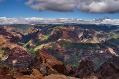 'Grand Canyon of the Pacific' (AgarwalArun) Tags: sonya7m2 sonyilce7m2 hawaii kauai island landscape scenic nature views mountain fog clouds waimeacanyon statepark grandcanyonofthepacific canyon valleys mountains waterfall trees cliffs peaks