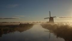 A misty morning (peeteninge) Tags: morning sochtends ochtend mist mill molen holland nature natuur water misty outdoor