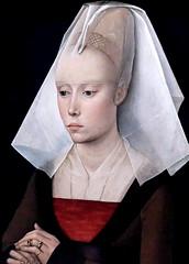 IMG_0880O Rogier van der Weyden. 1399-1464. Bruxelles. Portrait d'une Dame. Portrait of a Lady. vers 1460.   Londres (jean louis mazieres) Tags: peintres peintures painting muse museum museo grandebretagne greatbritain unitedkingdom londres london nationalgallery rogiervanderweyden