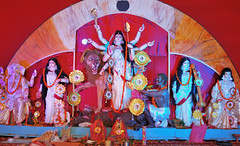 Durga Puja_2016_0068 (Mukul Banerjee (www.mukulbanerjee.com)) Tags: delhi durgapuja durga durgostav idol culture 2016 festival bengali nikond60 nikon2470mmf28 india cultural ncr gurgaon worship goddess female hindu crpark bangla mukulbanerjeephotography artist sculpture photographs images navratri panchami sashti saptami ashtami navami dashami