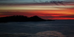 October12Image2699 (Michael T. Morales) Tags: sunset pointlobos orange sky clouds carmel riberabeach monasterybeach