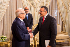 Official visit at the Presidential Palace. (ITU Pictures) Tags: محمد الباجي قائد السبسي beji caid essebsi bilel jamousiuit itu carthage tunis tunisia