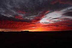 Prairie Sunrise @ 7:06AM (northern_nights) Tags: 100v10f sunrise redskies firesky skyfire sky clouds wyoming