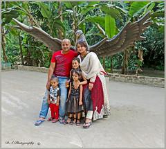 Family at Madhabkunda Waterfall Park in Barlekha Upazila (dark-dawud) Tags: madhabkunda bangladesh barlekha sylhet friends family son daughters girls boy man woman asia asians happy travel smart eagle statute trees park portrait groupofpeople 2014 november dayout khan brother